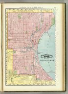 Rand, McNally & Co.'s indexed atlas of the world map of Milwaukee. Rand, McNally & Co.'s new business atlas map of Milwaukee. Copyright, 1894, by Rand, McNally & Co. (Chicago, 1897)