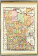 Rand, McNally & Co.'s Business atlas map of Minnesota. Copyright, 1889, by Rand, McNally & Co. (Chicago, 1897)