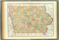 Rand, McNally & Co.'s New business atlas map of Iowa. Copyright, 1889, by Rand, McNally & Co. (Chicago, 1897)
