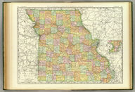 Rand, McNally & Co.'s New business atlas map of Missouri. Copyright, 1888, by Rand, McNally & Co. (Chicago, 1897)
