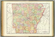 Rand, McNally & Co.'s New business atlas map of Arkansas. Copyright, 1890, by Rand, McNally & Co. (Chicago, 1897)