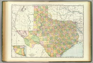 Rand, McNally & Co.'s New business atlas map of Texas. Copyright, 1892, by Rand, McNally & Co. (Chicago, 1897)