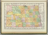 Rand, McNally & Co.'s new business atlas map of North Dakota. Copyright, 1894, by Rand, McNally & Co. (Chicago, 1897)