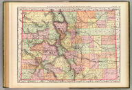 Rand, McNally & Co.'s new business atlas map of Colorado. Copyright, 1890, by Rand, McNally & Co. (Chicago, 1897)