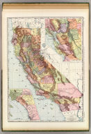 Rand, McNally & Co.'s new business atlas map of California. Copyright, 1892, by Rand, McNally & Co. (Chicago, 1897)