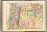 Rand, McNally & Co.'s new business atlas map of Oregon. Copyright, 1891, by Rand, McNally & Co. (Chicago, 1897)