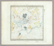 Anno 1830. No. 3. March, April, May. (The Stars, in six maps, on the gnomonic projection, revised by the Rev. W.R. Dawes. Under the superintendence of the Society for the Diffusion of Useful Knowledge). Drawn by W. Newton. The constellations by W. Clarke archt. Engraved by J. & C. Walker. London: Chas. Knight & Co., 22, Ludgate Street. (1844)