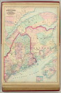 Asher & Adams' Maine and New Brunswick with portions of Quebec & Nova Scotia. Entered according to Act of Congress in the year 1874 by Asher & Adams ... at Washington. (New York, 1874)