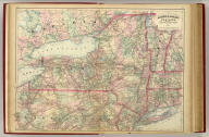 Asher & Adams' New York and part of Ontario. Entered according to Act of Congress in the year 1874 by Asher & Adams ... at Washington. (New York, 1874)