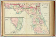 Asher & Adams' Florida. Entered according to Act of Congress in the year 1874 by Asher & Adams ... at Washington. (New York, 1874)