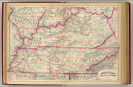 Asher & Adams' Kentucky & Tennessee. Entered according to Act of Congress in the year 1874 by Asher & Adams ... at Washington. (New York, 1874)