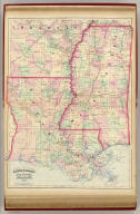 Asher & Adams' Louisiana and Mississippi. Entered according to Act of Congress in the year 1874 by Asher & Adams ... at Washington. (New York, 1874)