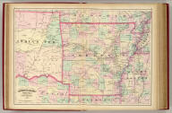 Asher & Adams' Arkansas and portion of Indian Territory. Entered according to Act of Congress in the year 1874 by Asher & Adams ... at Washington. (New York, 1874)