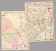 (Composite of) Asher & Adams' Texas ... Entered according to Act of Congress in the year 1874 by Asher & Adams ... at Washington. (New York, 1874)
