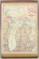 Asher & Adams' Michigan. Entered according to Act of Congress in the year 1874 by Asher & Adams ... at Washington. (New York, 1874)