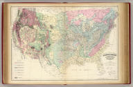 Asher & Adams' geological map, United States and territories. Entered according to Act of Congress in the year 1874 by Asher & Adams ... at Washington. Drawn and engraved by W.H. Holmes. (New York, 1874)