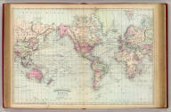 Asher & Adams' World on Mercator's projection. Entered according to Act of Congress in the year 1874 by Asher & Adams ... at Washington. (New York, 1874)