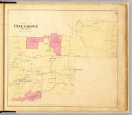 Plan of Pine Grove Township. Entered ... 1865 ... Southern District of New York by F.W. Beers & Co. Ferd. Mayer & Co. Lithographers, 96 Fulton St., N.Y.