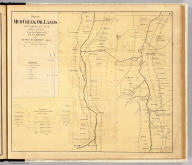 Plan of Mud Creek oil lands, Ontario Co., N.Y. January 26th. 1865, from late surveys by Prof. C.A. Proctor for Lewis M. Brown, agent for the wells and companies. No. 30 Broad St., Room 11, N.Y. (with) Geological section of Mud Creek Valley by Prof. A. Hall. (Entered ... 1865 ... Southern District of New York by F.W. Beers & Co. Ferd. Mayer & Co. Lithographers, 96 Fulton St., N.Y.)