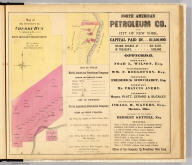 Map of oil property on Cherry Run 1/4 interest in fee owned by the North American Petroleum Company. (with North American Petroleum Company's property on Oil Creek. Entered ... 1865 ... Southern District of New York by F.W. Beers & Co. Ferd. Mayer & Co. Lithographers, 96 Fulton St., N.Y.)