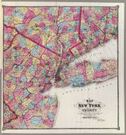 """Map of New York and vicinity accompanying """"Atlas of New York and vicinity"""" published by Beers, Ellis & Soule, 95 Maiden Lane, New York. (1868)"""