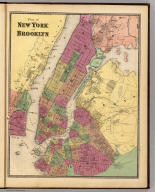Plan of New York and Brooklyn. (Atlas of New York and vicinity ... by F.W. Beers ... published by Beers, Ellis & Soule, New York, 1868)