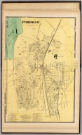 Fordham. (Atlas of New York and vicinity ... by F.W. Beers ... published by Beers, Ellis & Soule, New York, 1868)
