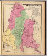 Town of Westchester, Westchester Co., N.Y. (Atlas of New York and vicinity ... by F.W. Beers ... published by Beers, Ellis & Soule, New York, 1868)