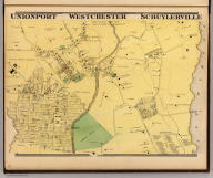 Unionport, Westchester, Schuylerville, Town & County of Westchester, N.Y. (Atlas of New York and vicinity ... by F.W. Beers ... published by Beers, Ellis & Soule, New York, 1868)