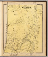 Yonkers, Westchester Co., N.Y. (Atlas of New York and vicinity ... by F.W. Beers ... published by Beers, Ellis & Soule, New York, 1868)