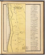 Northern part of Town of Yonkers adjacent to the river. (Atlas of New York and vicinity ... by F.W. Beers ... published by Beers, Ellis & Soule, New York, 1868)