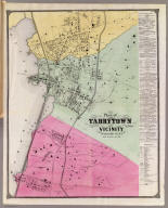 Plan of Tarrytown and vicinity, Westchester Co., N.Y. (Atlas of New York and vicinity ... by F.W. Beers ... published by Beers, Ellis & Soule, New York, 1868)