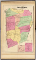 Town of Greenburgh, Westchester Co., N.Y. (with) Ashford ... (with) Harts Corners ... (Atlas of New York and vicinity ... by F.W. Beers ... published by Beers, Ellis & Soule, New York, 1868)