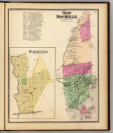 Town of New Rochelle, Westchester Co., N.Y. (with) Pelhamville. (Atlas of New York and vicinity ... by F.W. Beers ... published by Beers, Ellis & Soule, New York, 1868)