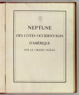 Title Page: Neptune, cotes occident. d'Amerique.