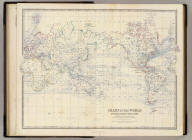 Chart of the world on Mercators projection. Showing the direction of the ocean currents, with the routes and distances between the principal ports. By Keith Johnston, F.R.S.E. Engraved & printed by W. & A.K. Johnston, Edinburgh. William Blackwood & Sons, Edinburgh & London, (1861)