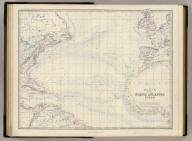 Basin of the North Atlantic Ocean, by Keith Johnston, F.R.S.E. Engraved & printed by W. & A.K. Johnston, Edinburgh. William Blackwood & Sons, Edinburgh & London, (1861)