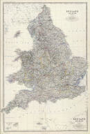 (Composite of) England and Wales by Keith Johnston, F.R.S.E. Engraved & printed by W. & A.K. Johnston, Edinburgh. William Blackwood & Sons, Edinburgh & London, (1861)
