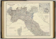 North & central Italy and the island of Corsica by Keith Johnston, F.R.S.E. (with) Environs of Rome. Engraved & printed by W. & A.K. Johnston, Edinburgh. William Blackwood & Sons, Edinburgh & London, (1861)