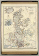 Denmark and Hanover, Brunswick, Mecklenburg, Oldenburg, Anhalt and Lippe. By Keith Johnston, F.R.S.E. (with) Island of Iceland. (with) Copenhagen. (with) The Elbe from Hamburg to Cuxhaven. (with) Faroe Islands. (with) Bornholm. Engraved & printed by W. & A.K. Johnston, Edinburgh. William Blackwood & Sons, Edinburgh & London, (1861)