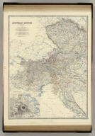 Austrian Empire, western sheet, by Keith Johnston, F.R.S.E. (with) Vienna, Wien and its environs. Engraved & printed by W. & A.K. Johnston, Edinburgh. William Blackwood & Sons, Edinburgh & London, (1861)