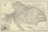 (Composite of) Austrian Empire by Keith Johnston, F.R.S.E. (with) Vienna, Wien and its environs. Engraved & printed by W. & A.K. Johnston, Edinburgh. William Blackwood & Sons, Edinburgh & London, (1861)