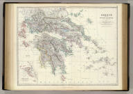 Greece and the Ionian Islands by Keith Johnston, F.R.S.E. (with) Corfu & Paxo. Engraved & printed by W. & A.K. Johnston, Edinburgh. William Blackwood & Sons, Edinburgh & London, (1861)