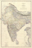 (Composite of) India ... by Keith Johnston, F.R.S.E. (with) South-eastern provinces of India, Hindu-Chinese countries or Further India. Engraved & printed by W. & A.K. Johnston, Edinburgh. William Blackwood & Sons, Edinburgh & London, (1861)