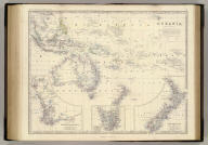Oceania by Keith Johnston, F.R.S.E. (with) Western Australia. (with) Tasmania. (with) New Zealand. Engraved & printed by W. & A.K. Johnston, Edinburgh. William Blackwood & Sons, Edinburgh & London, (1861)