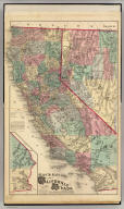 Map of the states of California and Nevada. Published by Thompson & West, 120 Sutter St., San Francisco, (1878)