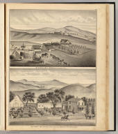 Res. & farm of Carl G. Munch, Murray Tp., Alameda Co., Cal. Res. & farms of Geo. C. Stanley, Livermore, Alameda Co., Cal., showing his Las Posetas (i.e., Positas) Ranch in distance. (Published by Thompson & West, Oakland, Cala., 1878)