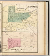 Official map of Haywards, Alameda Co., Cal. Map of San Lorenzo, Alameda Co., Cal. (Published by Thompson & West, Oakland, Cala., 1878)