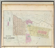 Map of San Leandro, Alameda Co., Cal. (Published by Thompson & West, Oakland, Cala., 1878)