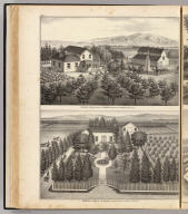 Residence & stock farm of H. Egger, Centreville, Alameda County, Cal. Residence & farm of I.B. Haines, Alvarado, Alameda County, California. (Published by Thompson & West, Oakland, Cala., 1878)